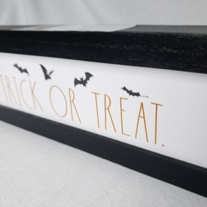 Rae Dunn Accents - NEW Rae Dunn TRICK OR TREAT Halloween Wooden Sign